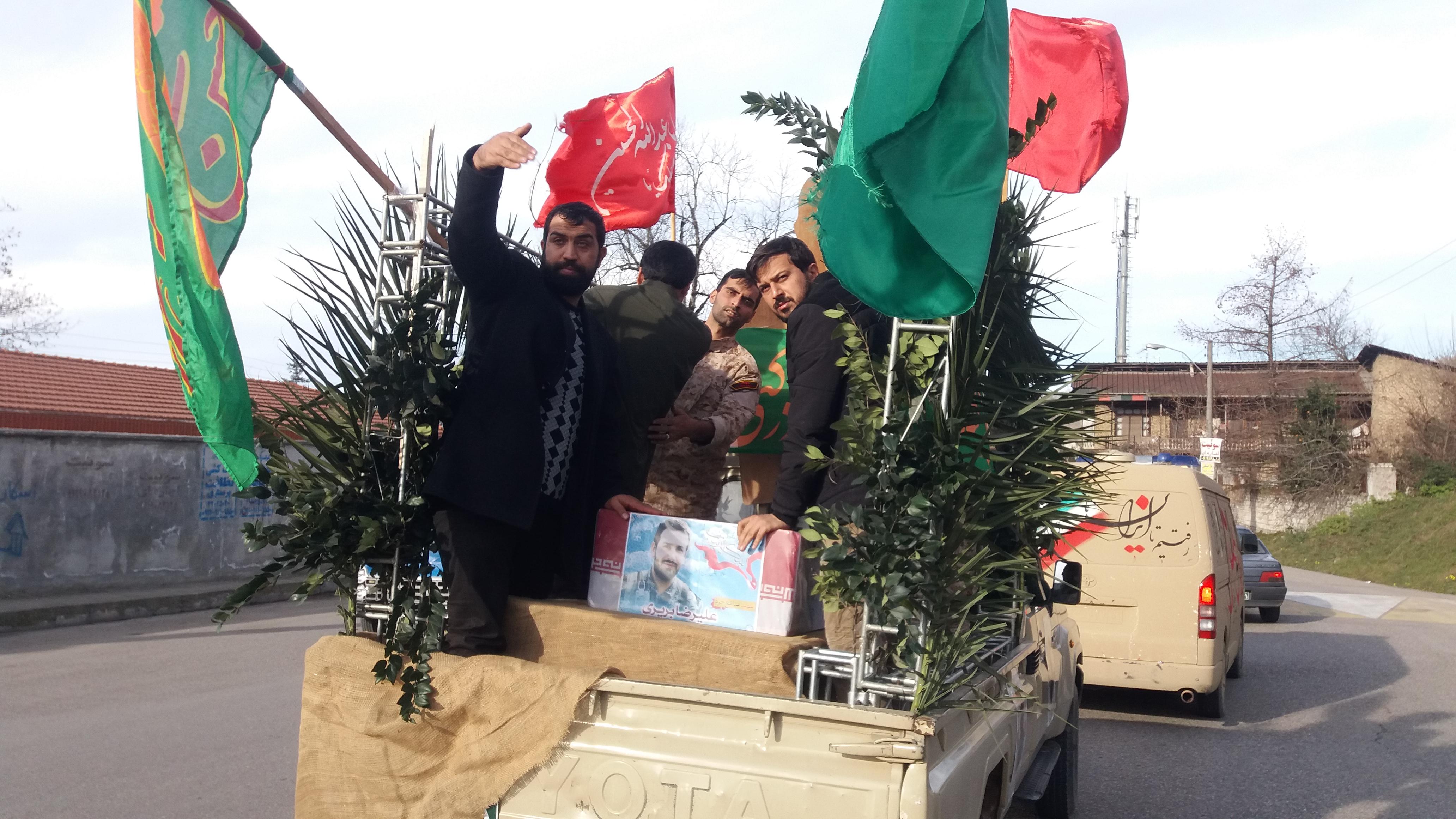 استقبال از شهید مدافع حرم در سوادکوه شمالی
