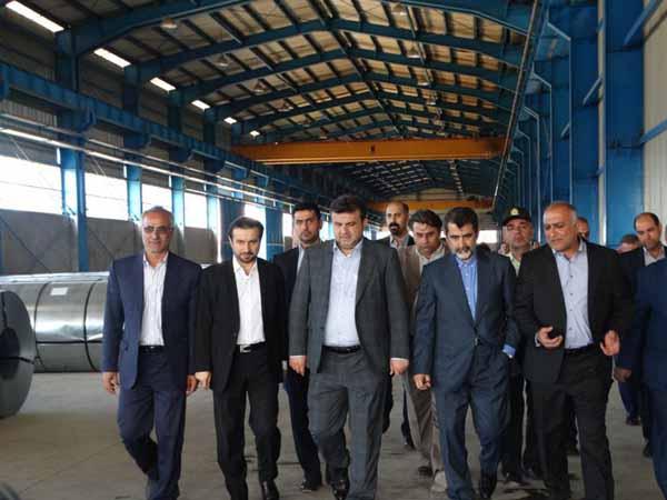 بازدید مسئولین ازواحدهای تولیدی شهرک صنعتی بشل  سوادکوه شمالی