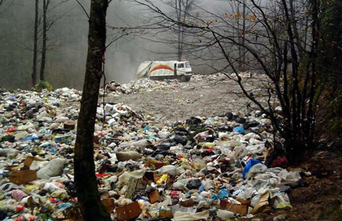 فیلم| منظره زشت جنگلهای مازندران!/ خالی کردن زبالهها در دل جنگل