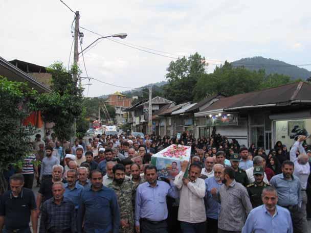 استقبال از شهید مدافع حرم ابراهیم عشریه در سوادکوه شمالی