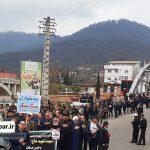 مراسم دسته روی هفتمین روز شهادت سردار سلیمانی و یارانش در سوادکوه شمالی