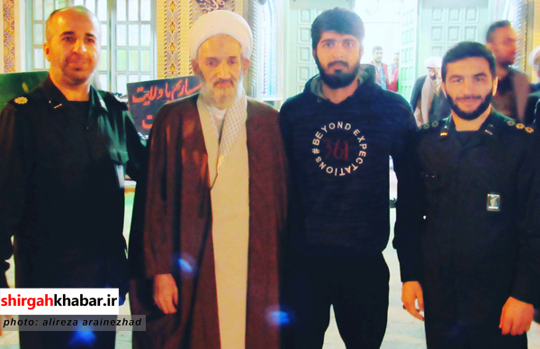 علیرضا آرایی نژاد در کنار حاج اقا محمدی لائینی نماینده  محترم ولی فقیه در استان مازندران