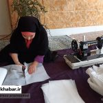 تولید ماسک به همت جهادگران سوادکوه شمالی