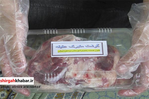 توزیع ۱۰۰ بسته گوشت عقیقه در  بین نیازمندان سوادکوه شمالی